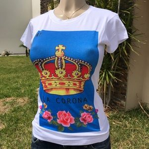 La corona Mexican Bingo Crown T-Shirt Stretchy